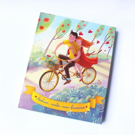 Фото - Шоколадный набор Люблю когда мы вместе XL купить в киеве на подарок, цена, отзывы
