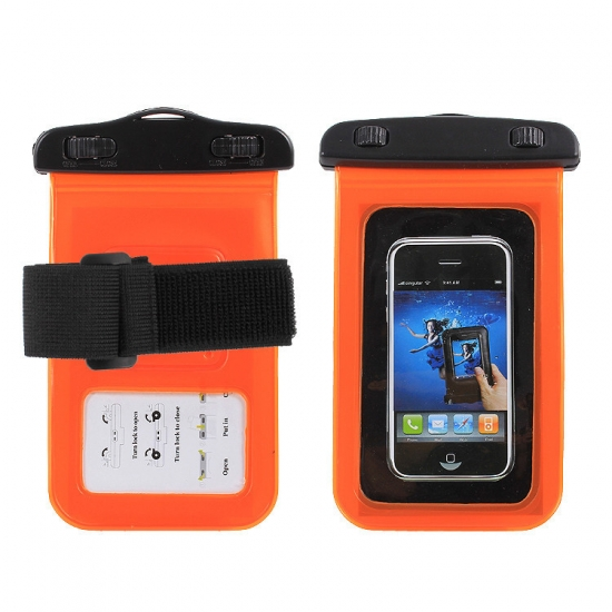 Фото - Водонепроницаемый чехол для телефона Оранжевый  купить в киеве на подарок, цена, отзывы