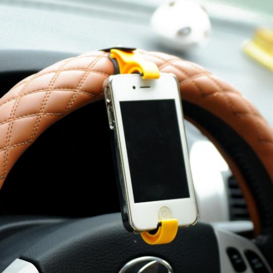 Фото - Держатель для телефона на руль автомобиля и велосипед Желтый купить в киеве на подарок, цена, отзывы