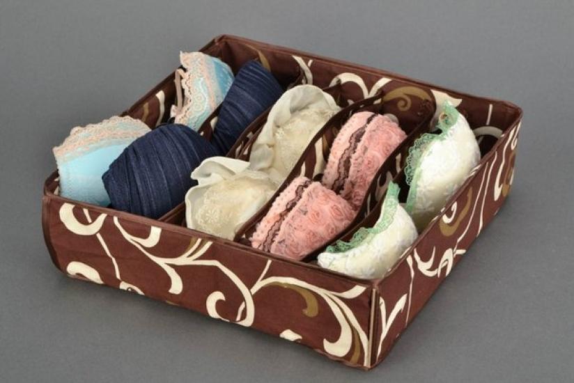 Фото - Органайзер для белья без крышки 7 отделений Мокко купить в киеве на подарок, цена, отзывы
