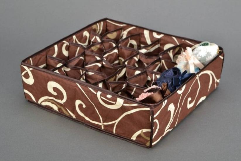 Фото - Органайзер для белья без крышки 24 отделений Мокко купить в киеве на подарок, цена, отзывы