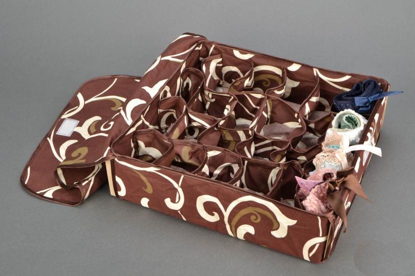 Фото - Органайзер для белья с крышкой 24 отделения Мокко купить в киеве на подарок, цена, отзывы