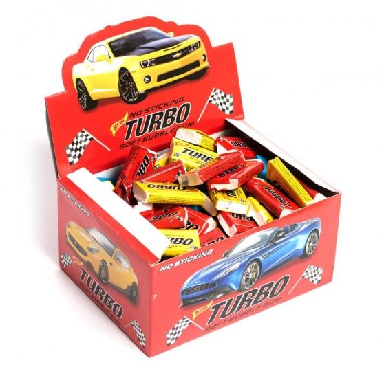 Фото - Жвачка Turbo 100шт купить в киеве на подарок, цена, отзывы