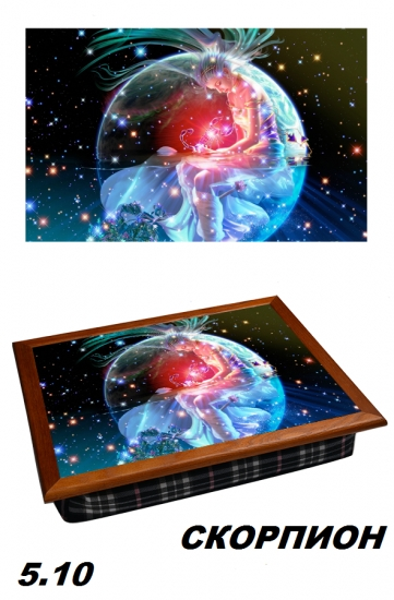 Фото - Поднос с подушкой Скорпион Вселенная купить в киеве на подарок, цена, отзывы