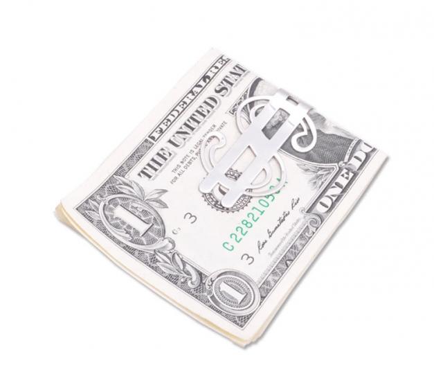Фото - Металлический зажим для денег доллар купить в киеве на подарок, цена, отзывы
