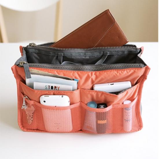 Фото - Органайзер Bag in bag maxi коралловый купить в киеве на подарок, цена, отзывы