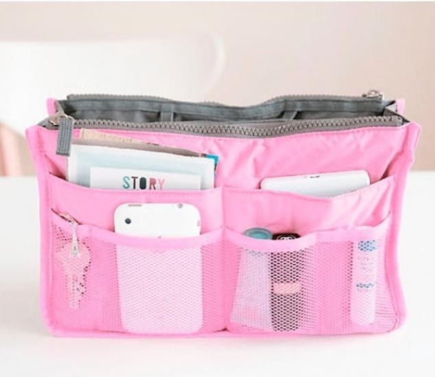 Фото - Органайзер Bag in bag maxi розовый купить в киеве на подарок, цена, отзывы