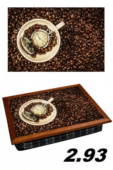 Фото - Поднос с подушкой Время кофе купить в киеве на подарок, цена, отзывы
