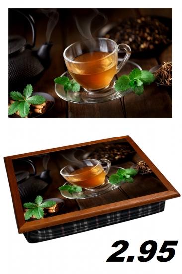 Фото - Поднос с подушкой Чай с мятой купить в киеве на подарок, цена, отзывы