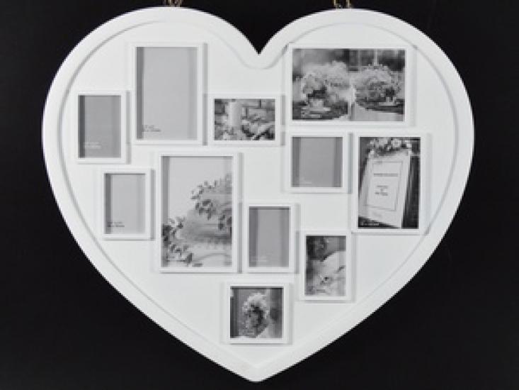 Фото - Фоторамка big Heart white купить в киеве на подарок, цена, отзывы