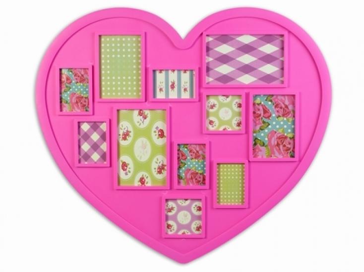 Фото - Фоторамка big Heart Pink купить в киеве на подарок, цена, отзывы
