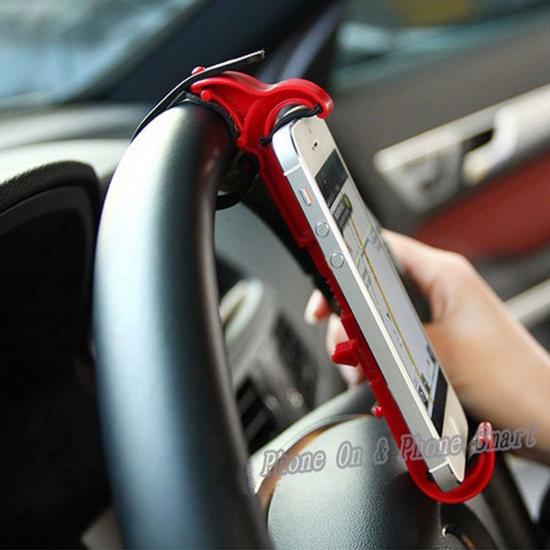 Фото - Держатель для телефона на руль автомобиля и велосипед Красный купить в киеве на подарок, цена, отзывы