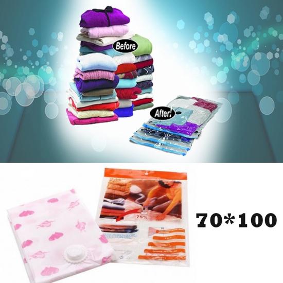Фото - Вакуумный пакет для хранения вещей 70x100 см купить в киеве на подарок, цена, отзывы