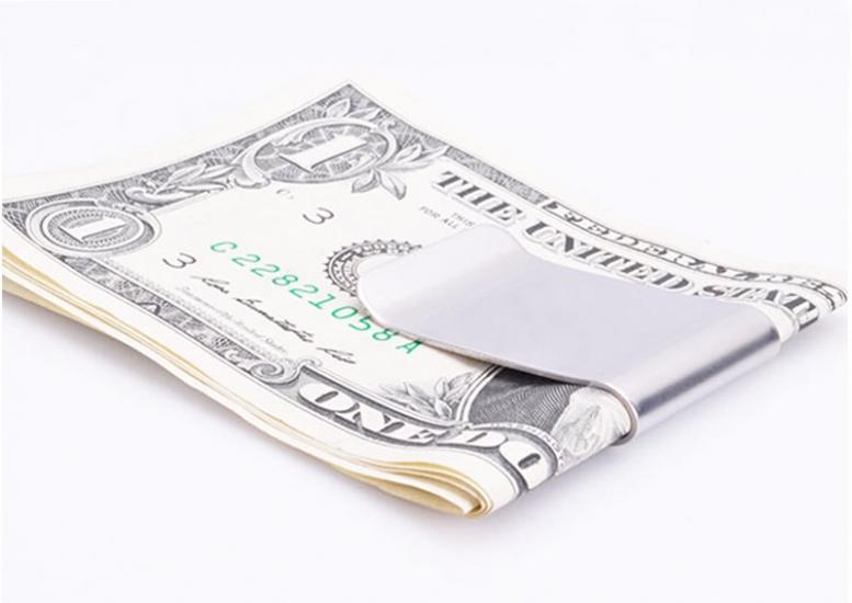Фото - Зажим для денег гладкий купить в киеве на подарок, цена, отзывы