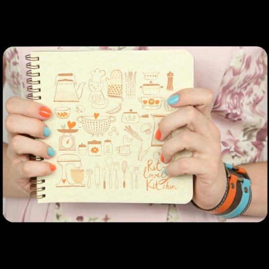 Фото - Кулинарная книга-блокнот CookBook+комплект наклеек купить в киеве на подарок, цена, отзывы