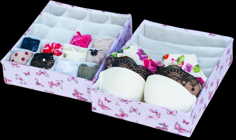 Фото - Комплект органайзеров из 2 шт Бабочки купить в киеве на подарок, цена, отзывы