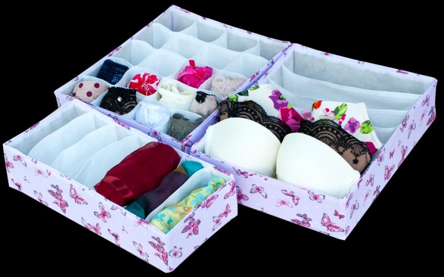 Фото - Комплект органайзеров из 3 шт Бабочки купить в киеве на подарок, цена, отзывы