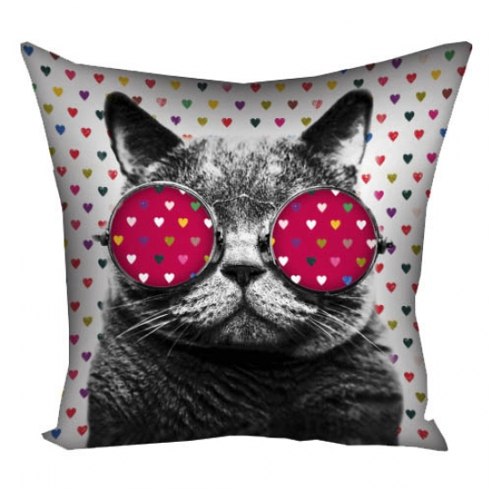 Фото - Подушка кот в очках  купить в киеве на подарок, цена, отзывы