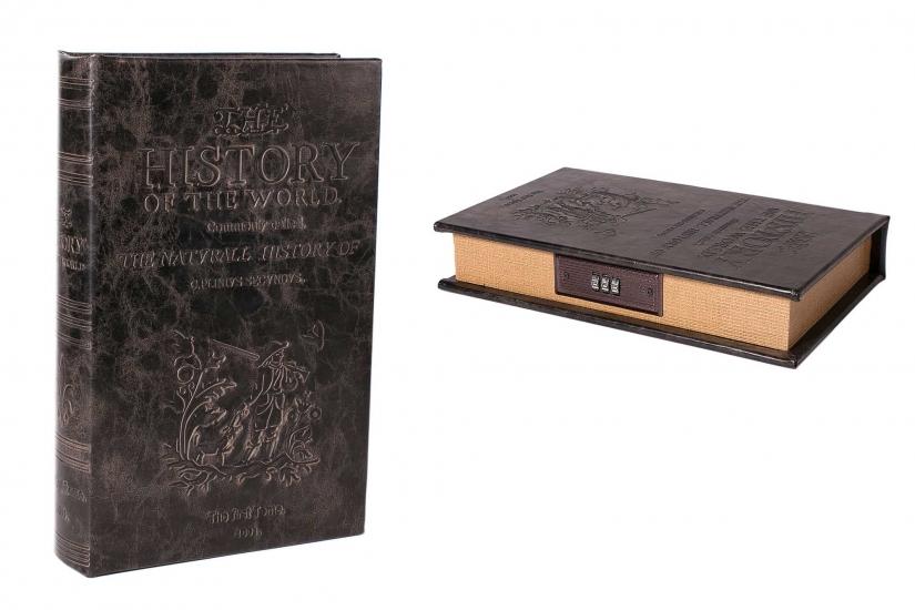 Фото - Книга сейф с кодовым замком История Мира 26см купить в киеве на подарок, цена, отзывы
