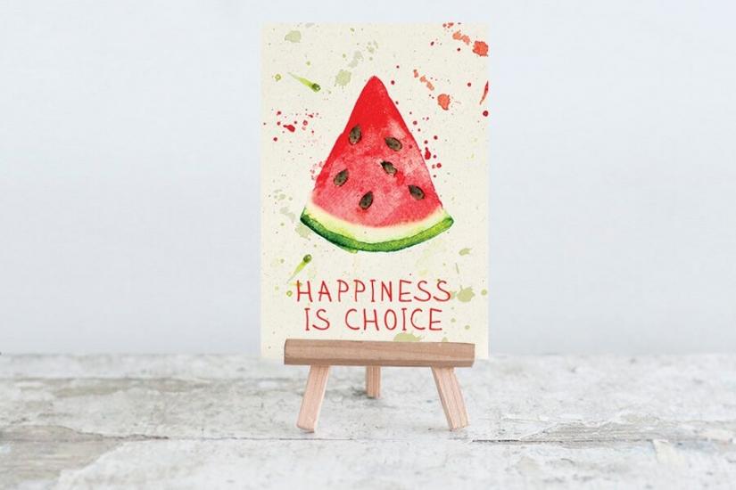 Фото - Открытка Happiness is choice купить в киеве на подарок, цена, отзывы