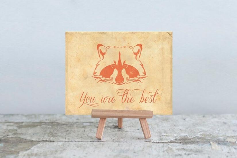 Фото - Мини открытка You are the best купить в киеве на подарок, цена, отзывы