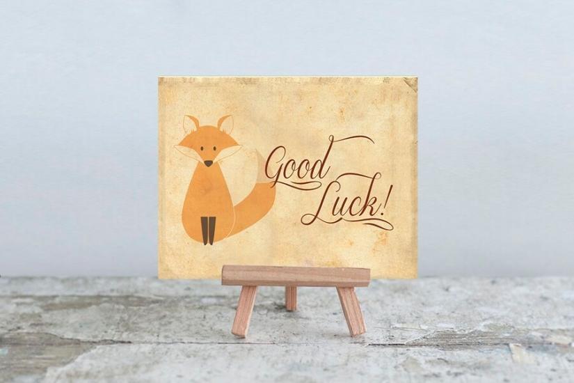 Фото - Мини открытка Good Luck купить в киеве на подарок, цена, отзывы