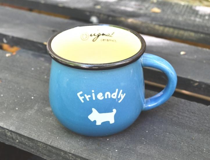 Фото - Чашка кувшин Синяя Zakka  купить в киеве на подарок, цена, отзывы