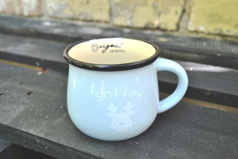 Фото - Чашка кувшин голубая Zakka  купить в киеве на подарок, цена, отзывы