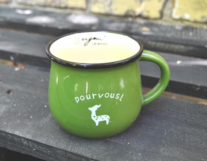 Фото - Чашка кувшин зеленая Zakka  купить в киеве на подарок, цена, отзывы