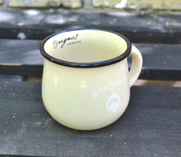 Фото - Чашка кувшин бежевая Zakka  купить в киеве на подарок, цена, отзывы