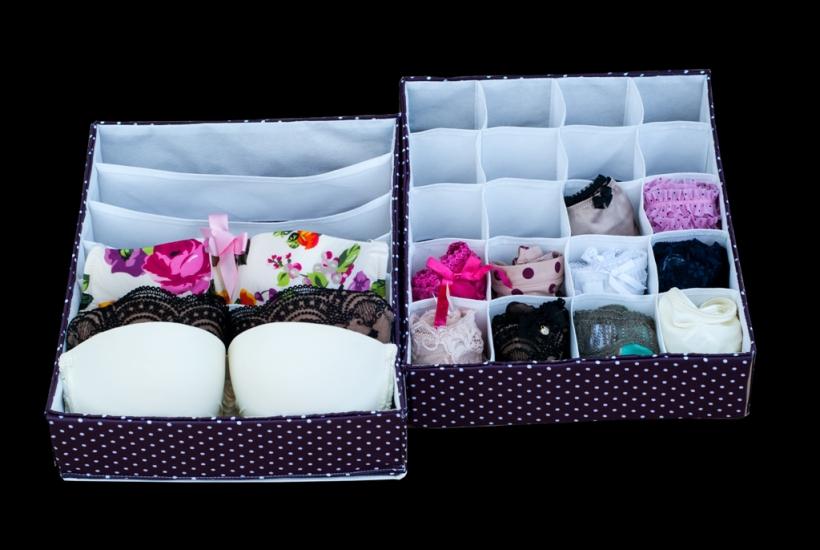 Фото - Комплект органайзеров из 2 шт фиолетовый горошек купить в киеве на подарок, цена, отзывы