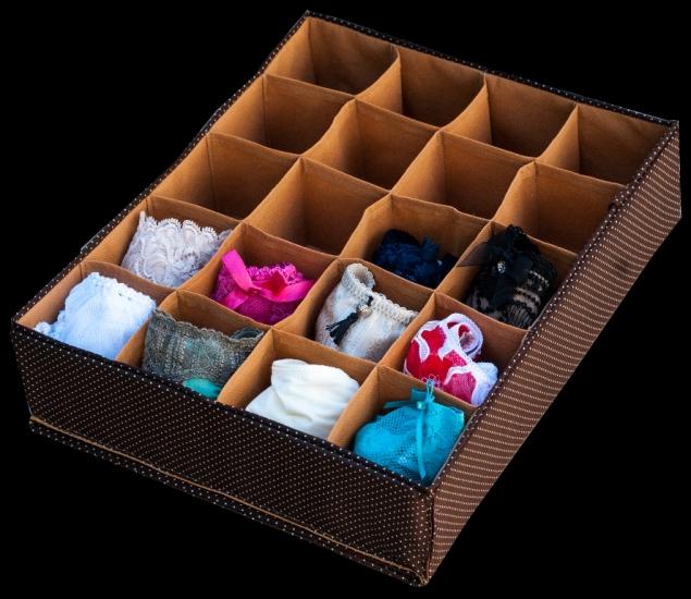 Фото - Органайзер на 20 ячеек Коричневый горошек купить в киеве на подарок, цена, отзывы