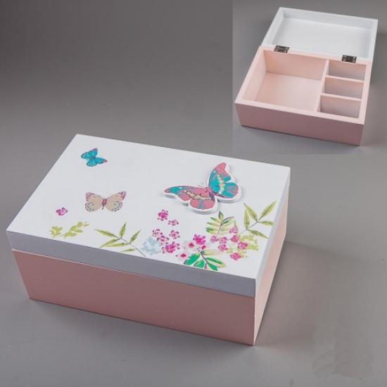 Фото - Шкатулка Бабочки 20х13х8 см купить в киеве на подарок, цена, отзывы