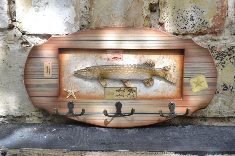 Фото - Ключница настенная Рыбаку Щука купить в киеве на подарок, цена, отзывы