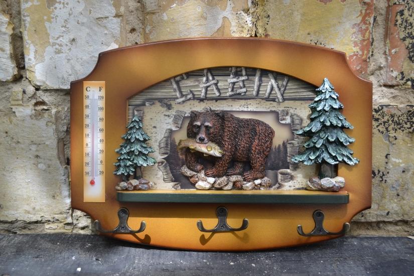 Фото - Ключница настенная Охотнику Медведь купить в киеве на подарок, цена, отзывы