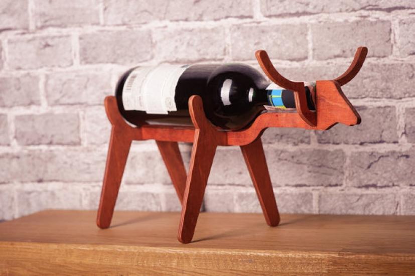 Фото - Подставка для бутылки в форме Быка купить в киеве на подарок, цена, отзывы