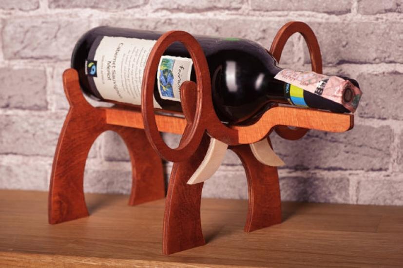 Фото - Подставка для бутылки в форме Слона купить в киеве на подарок, цена, отзывы