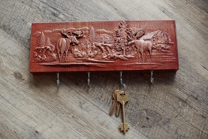 Фото - Ключница с рельефным рисунком купить в киеве на подарок, цена, отзывы