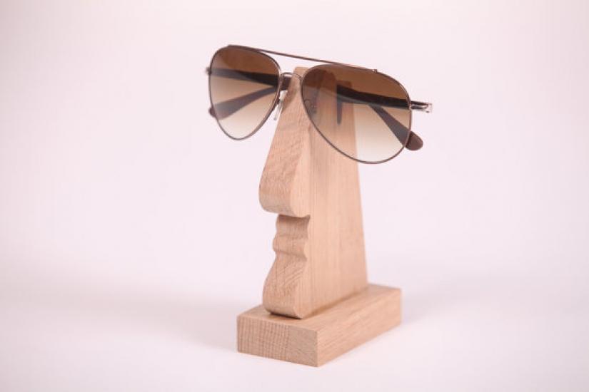 Фото - Подставка под мужские очки (дуб) купить в киеве на подарок, цена, отзывы