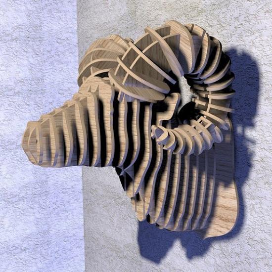 Фото - Интерьерная голова овна 3D пазл купить в киеве на подарок, цена, отзывы