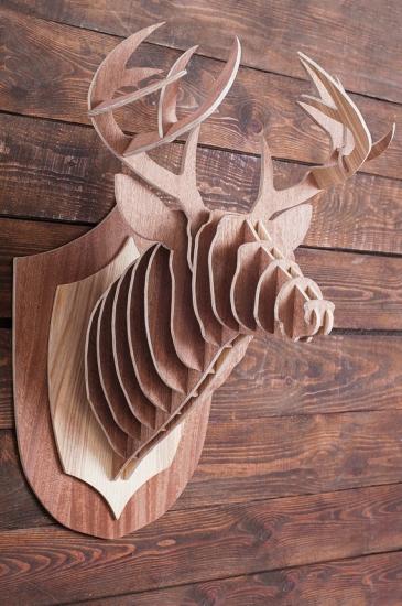 Фото - Интерьерная голова оленя 3D пазл купить в киеве на подарок, цена, отзывы