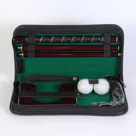 Фото - Набор для гольфа в кожаном кейсе купить в киеве на подарок, цена, отзывы