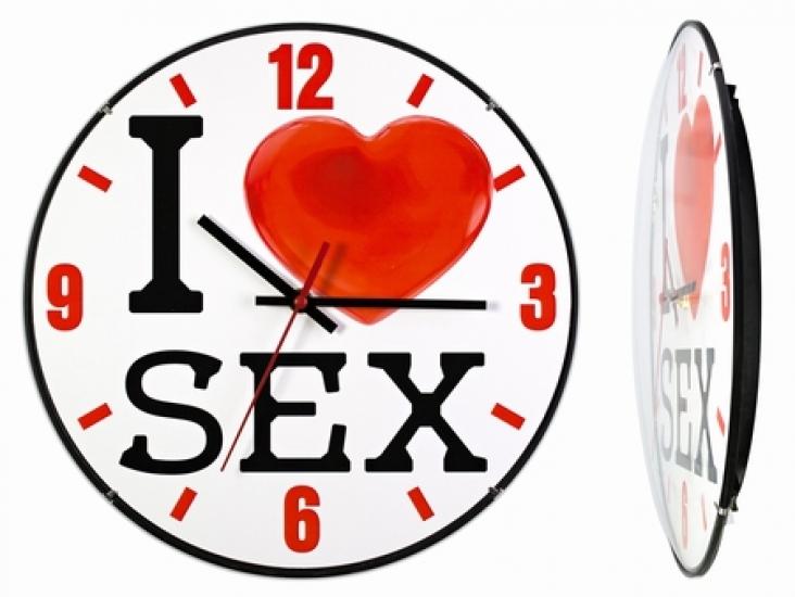 Фото - Часы настенные I love sex купить в киеве на подарок, цена, отзывы
