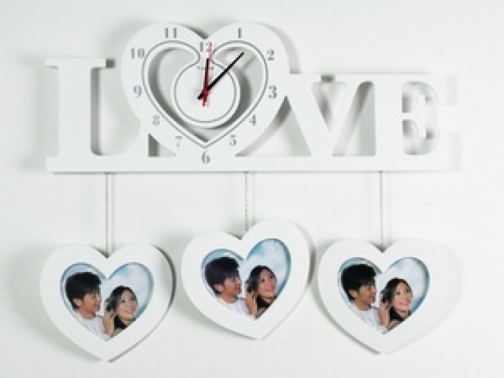Фото - Часы настенные Love белые купить в киеве на подарок, цена, отзывы