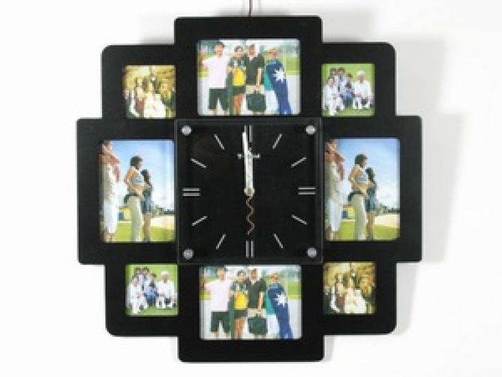 Фото - Часы настенные семейные на 8 фото черные купить в киеве на подарок, цена, отзывы