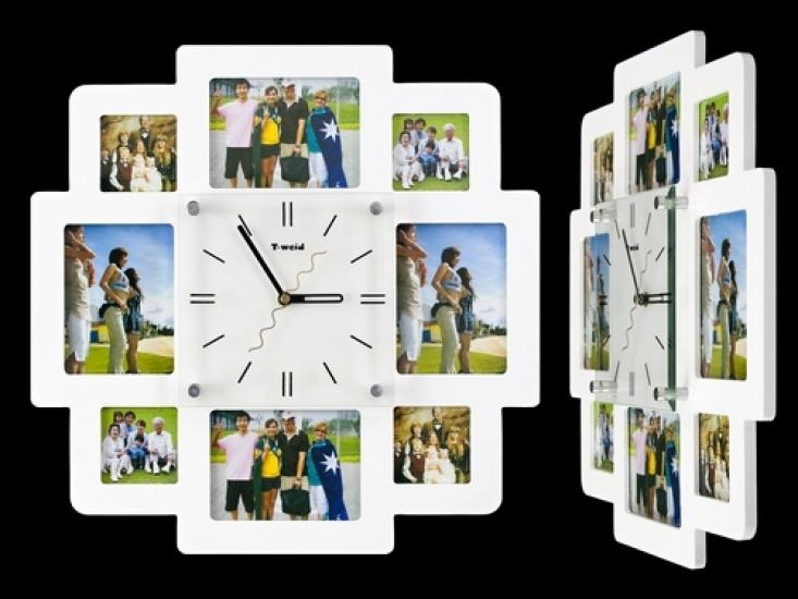 Фото - Часы настенные семейные на 8 фото белые купить в киеве на подарок, цена, отзывы