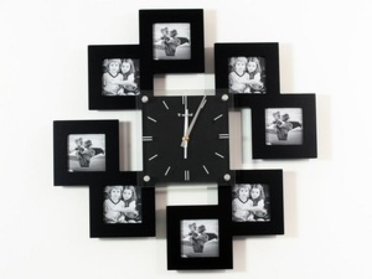 Фото - Часы настенные на 8 фото семейные купить в киеве на подарок, цена, отзывы