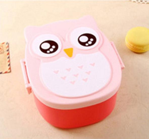 Фото - Детский ланч бокс Bento Совушка Розовый купить в киеве на подарок, цена, отзывы