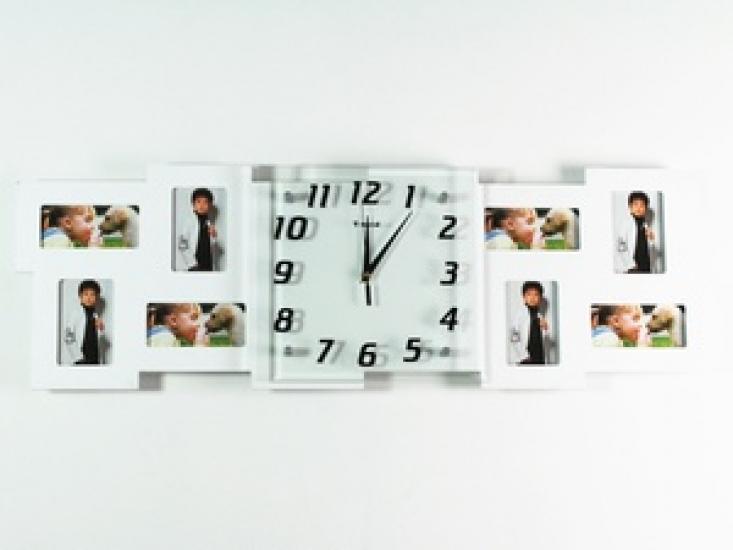 Фото - Часы настенные Семейные воспоминания на 8 фото белые купить в киеве на подарок, цена, отзывы