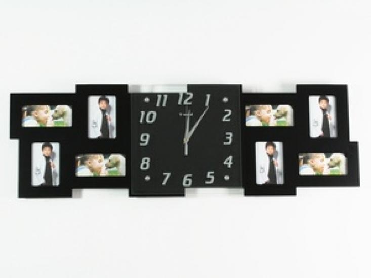 Фото - Часы настенные Семейные воспоминания на 8 фото черные купить в киеве на подарок, цена, отзывы